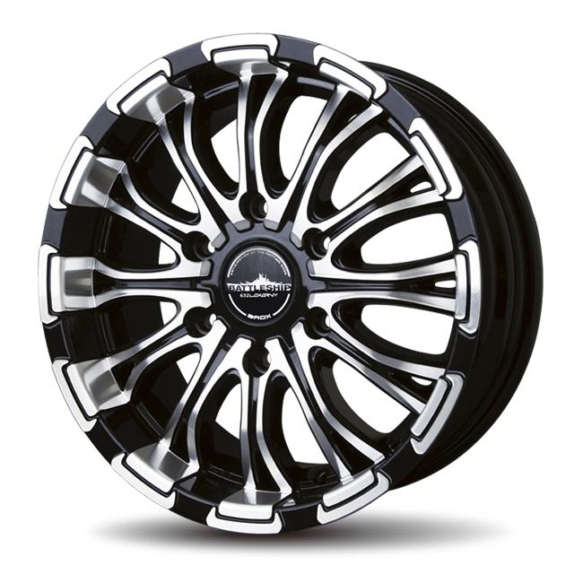 ロクサーニ バトルシップ 16インチ  車検対応LTタイヤ付(タイヤセレクト可能) 1セット
